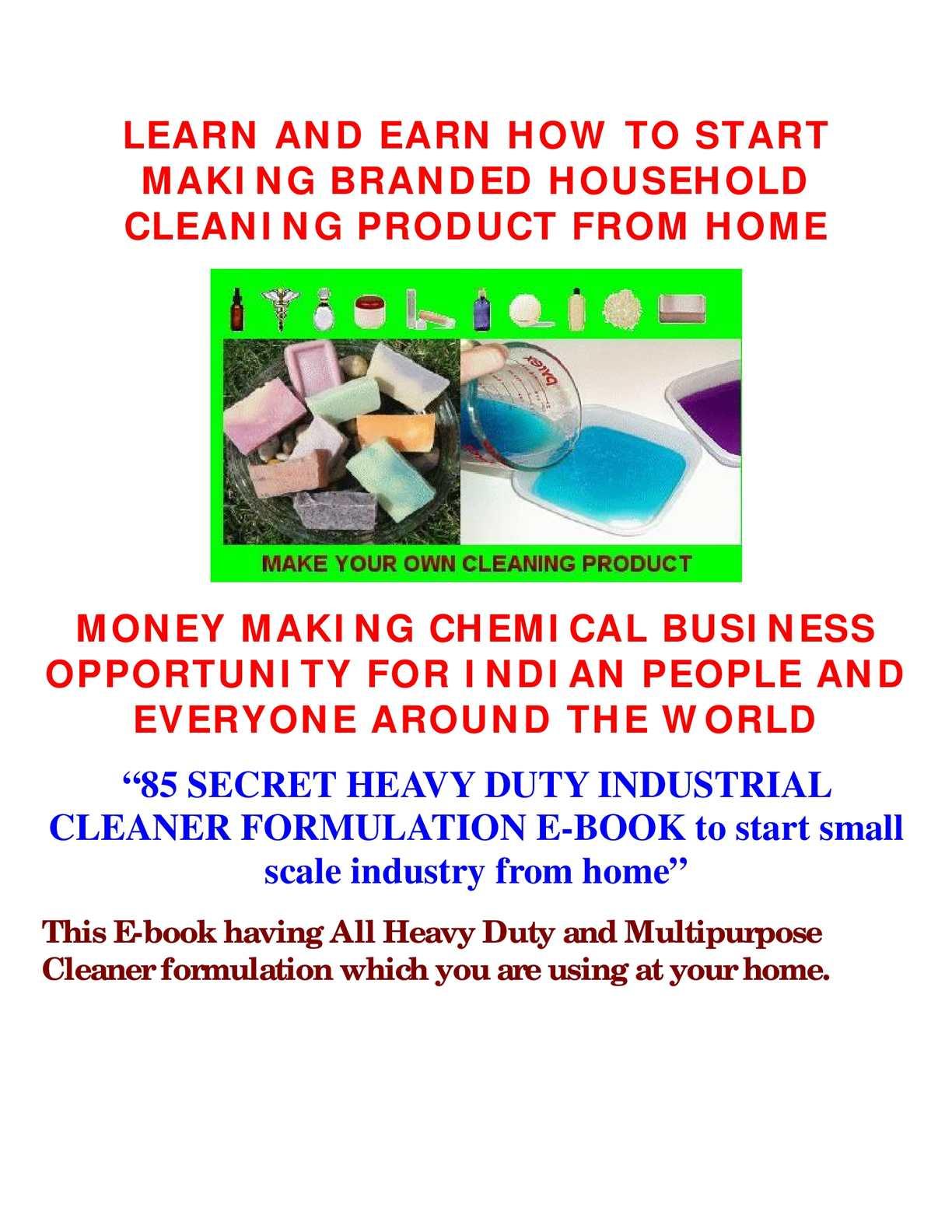 benzene cleaner india