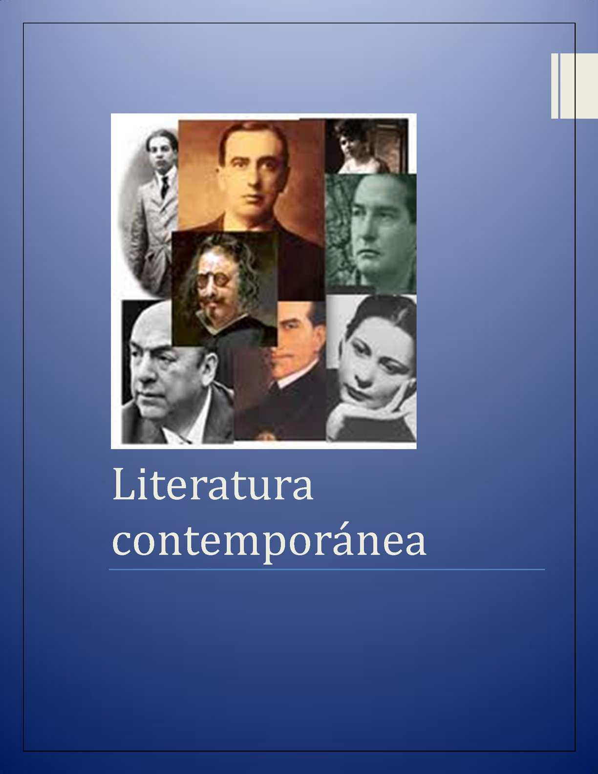 Calam o literatura contemporanea for Epoca contemporanea definicion