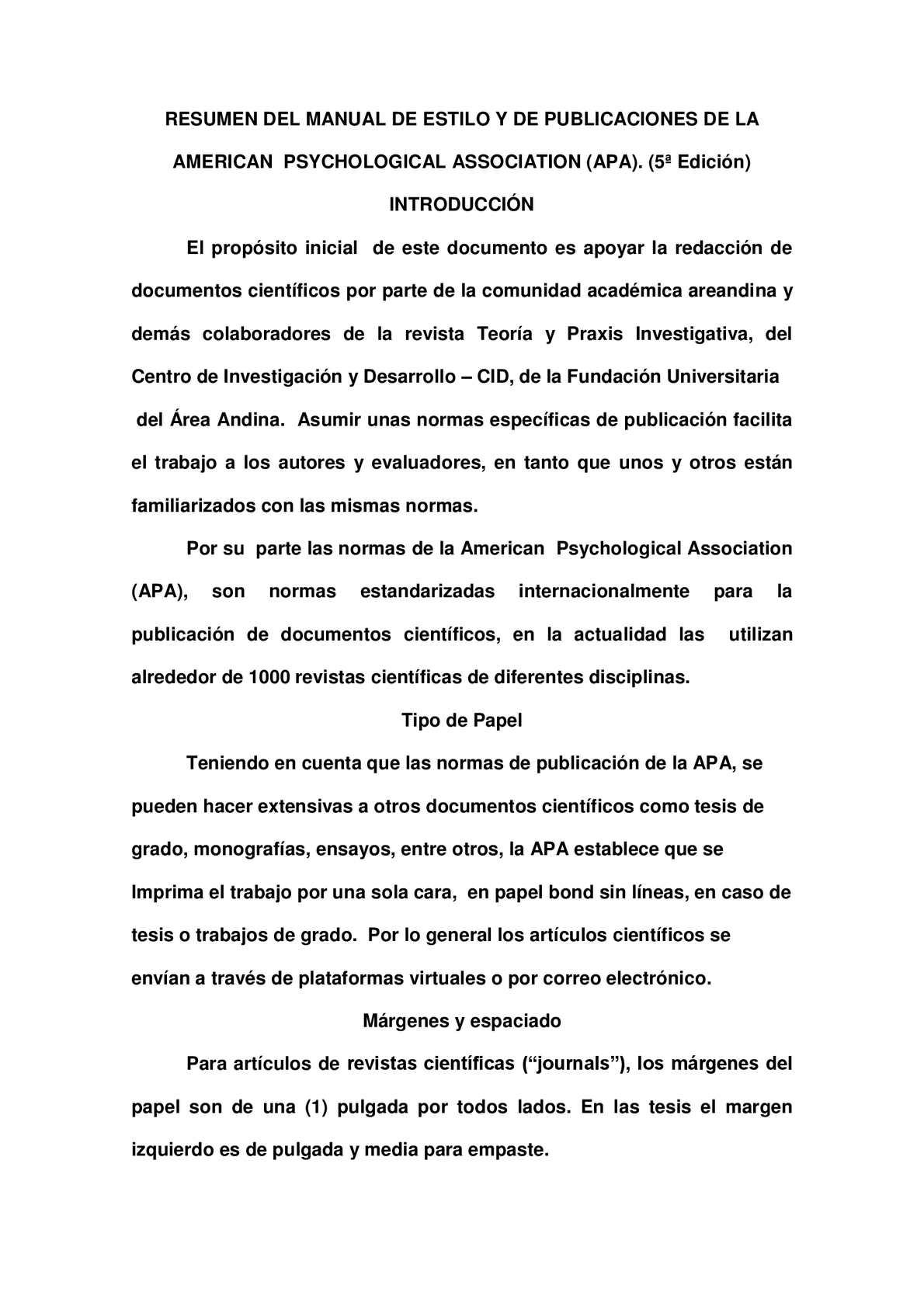 Calaméo - Resumen Normas APA