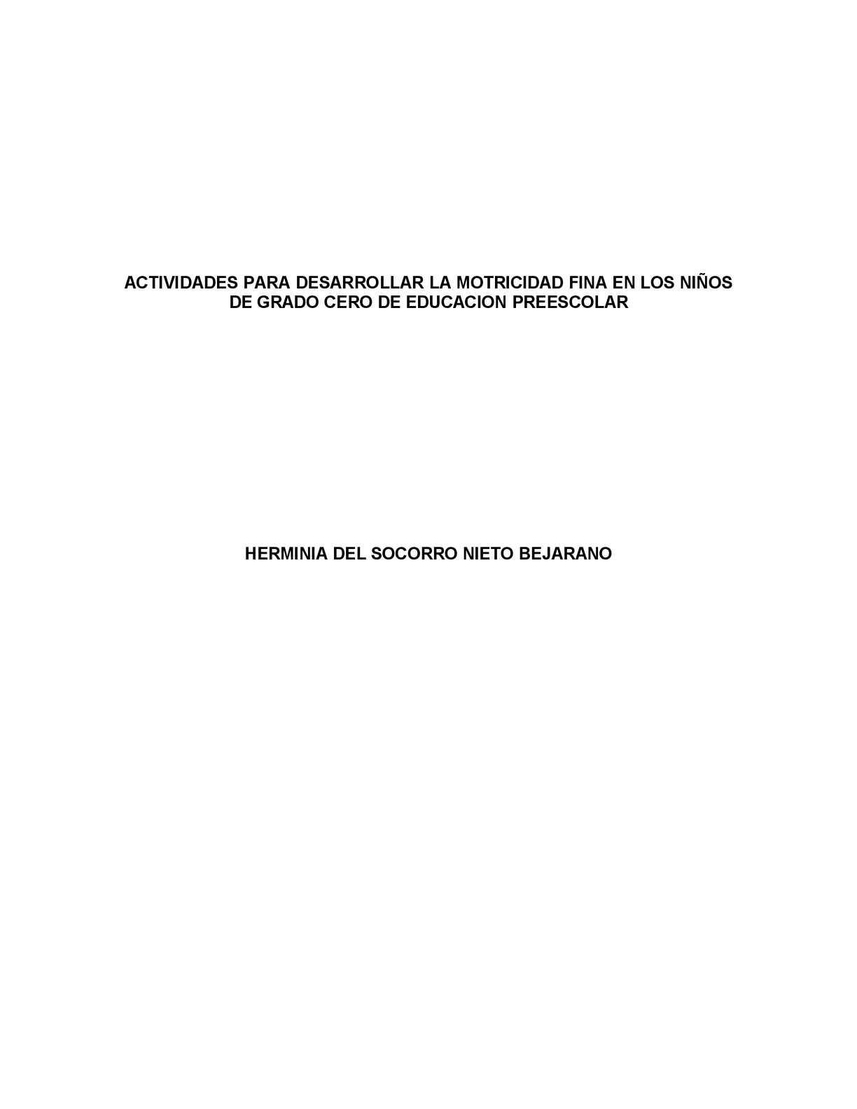 Calaméo - ACTIVIDADES PARA DESARROLLAR LA MOTRICIDAD FINA EN LOS ...