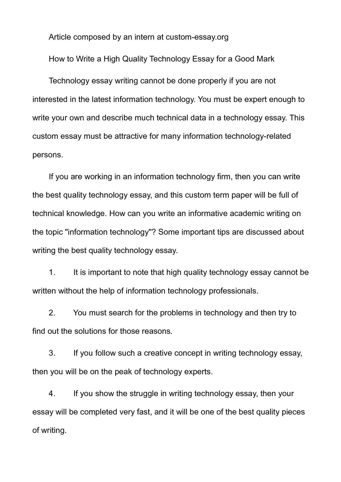 Best Business School Essays  Science And Technology Essay also Business Essay Sample Calamo  How To Write A High Quality Technology Essay For A Good Mark Topic English Essay