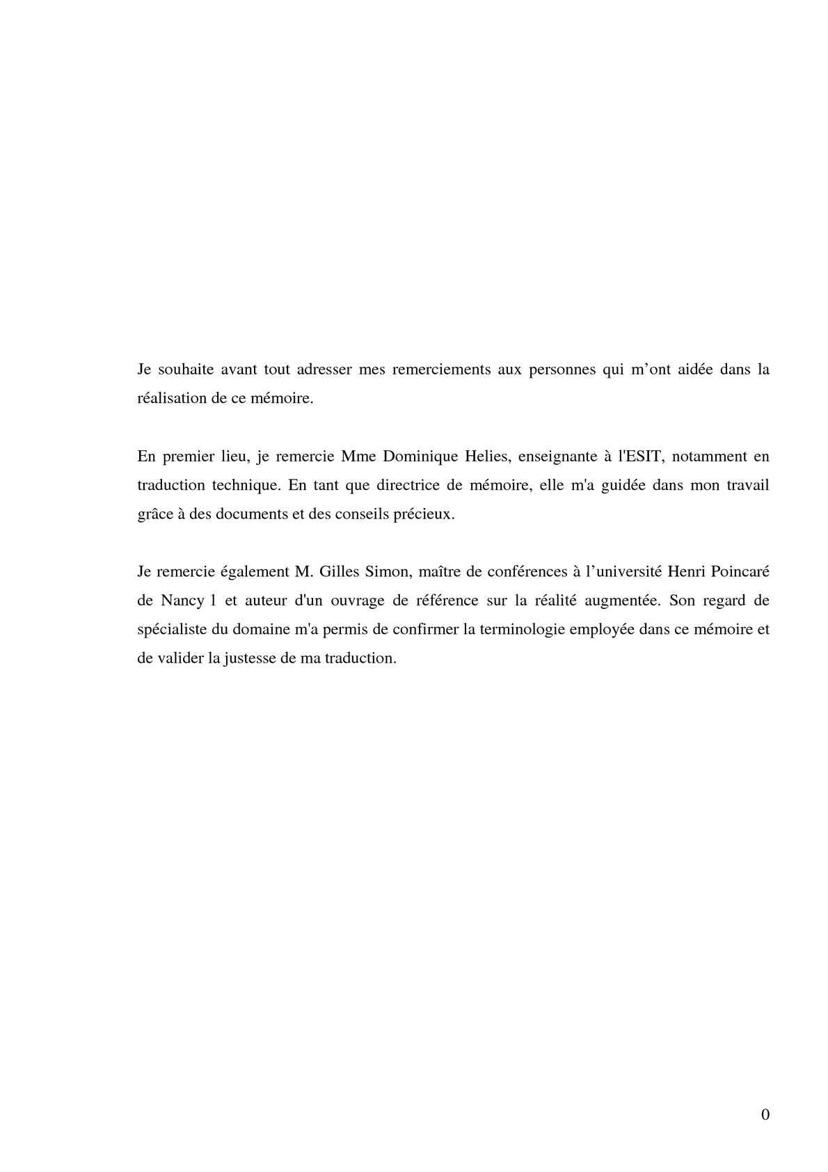 Mémoire Réalité Augmentée ESIT - Lucile Debrousse