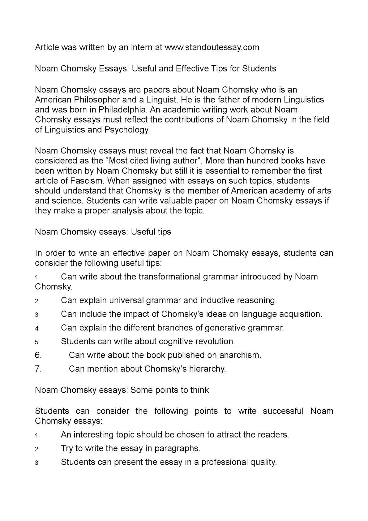 Persuasive Essay Topics High School Students  Writing A High School Essay also Cause And Effect Essay Topics For High School Calamo  Noam Chomsky Essays Useful And Effective Tips For Students Top English Essays