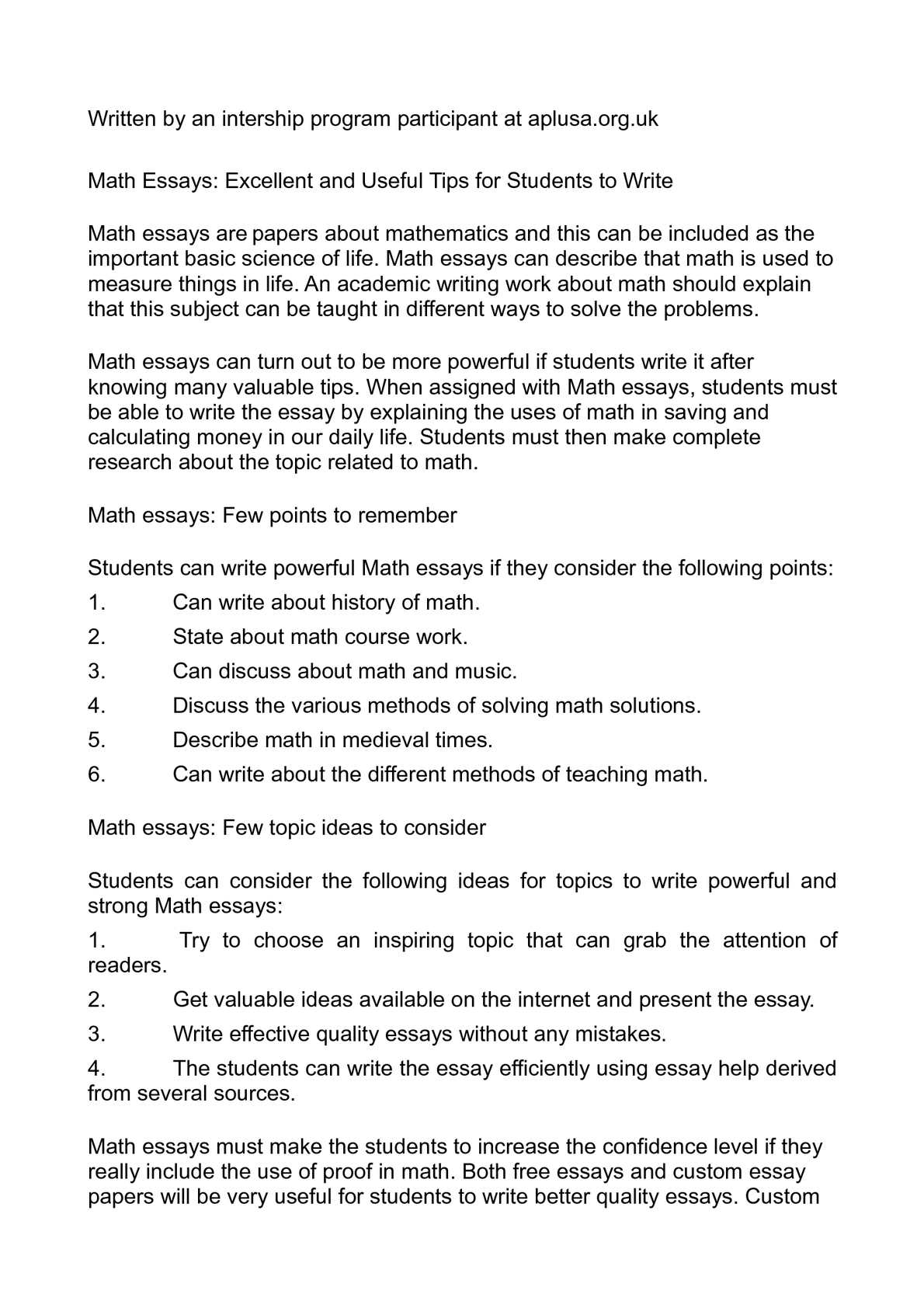 Calaméo   Math Essays: Excellent And Useful Tips For Students To Write