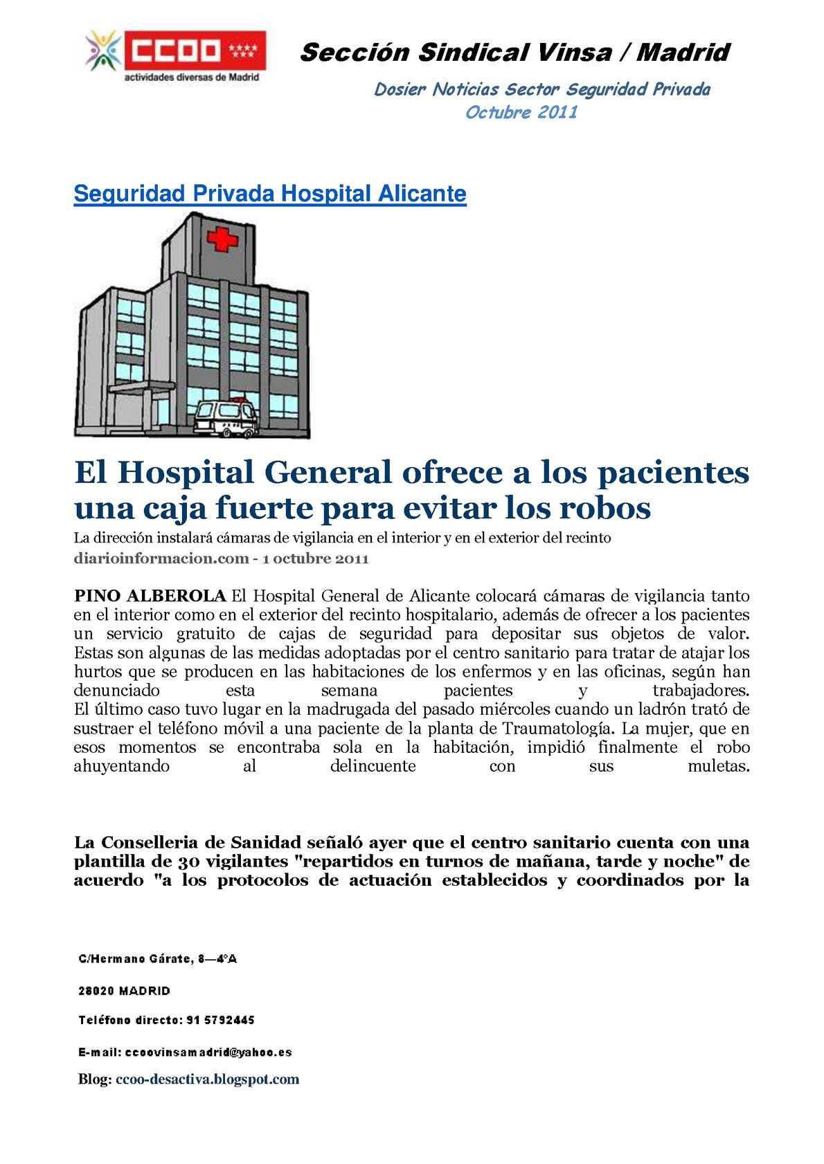 Calaméo - Dosier Noticias Sector Seguridad Privada Octubre 2011