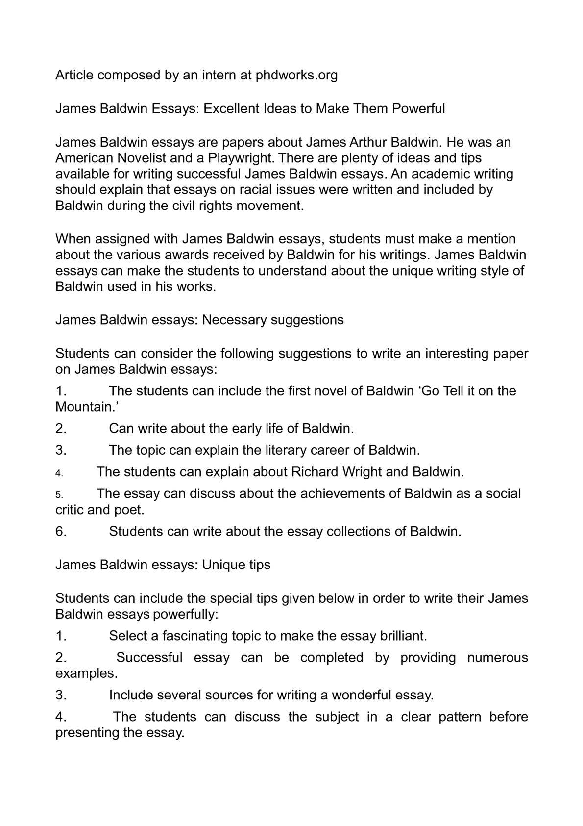 james baldwin essays
