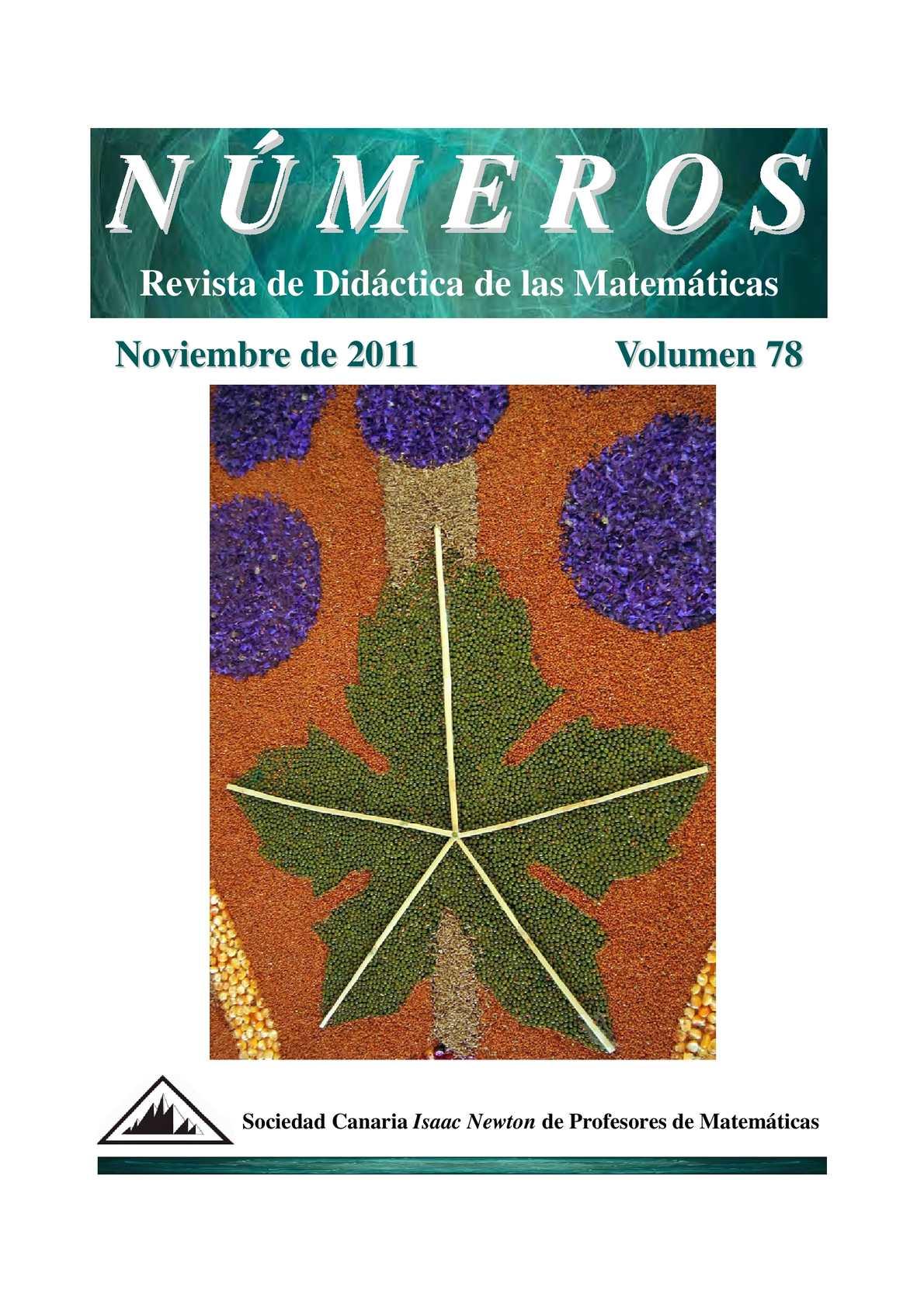 Calaméo - Números. Revista de Didáctica de las Matemáticas - 78