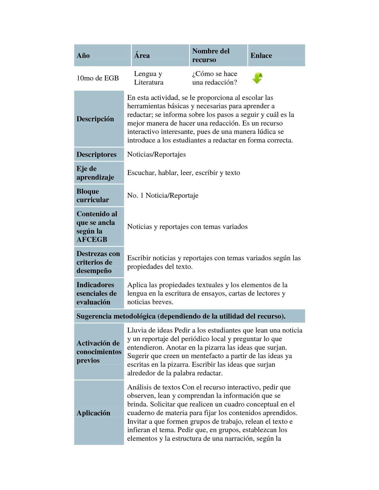Calaméo - Planificaciones Décimo Año