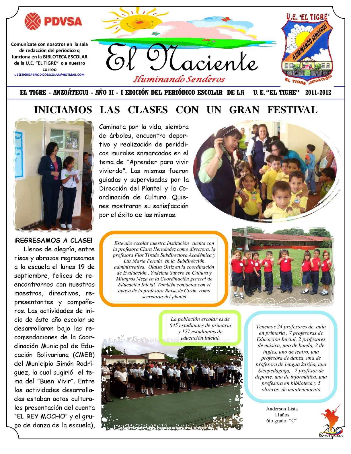 Calaméo - PERIODICO I 2011 EL TIGRE