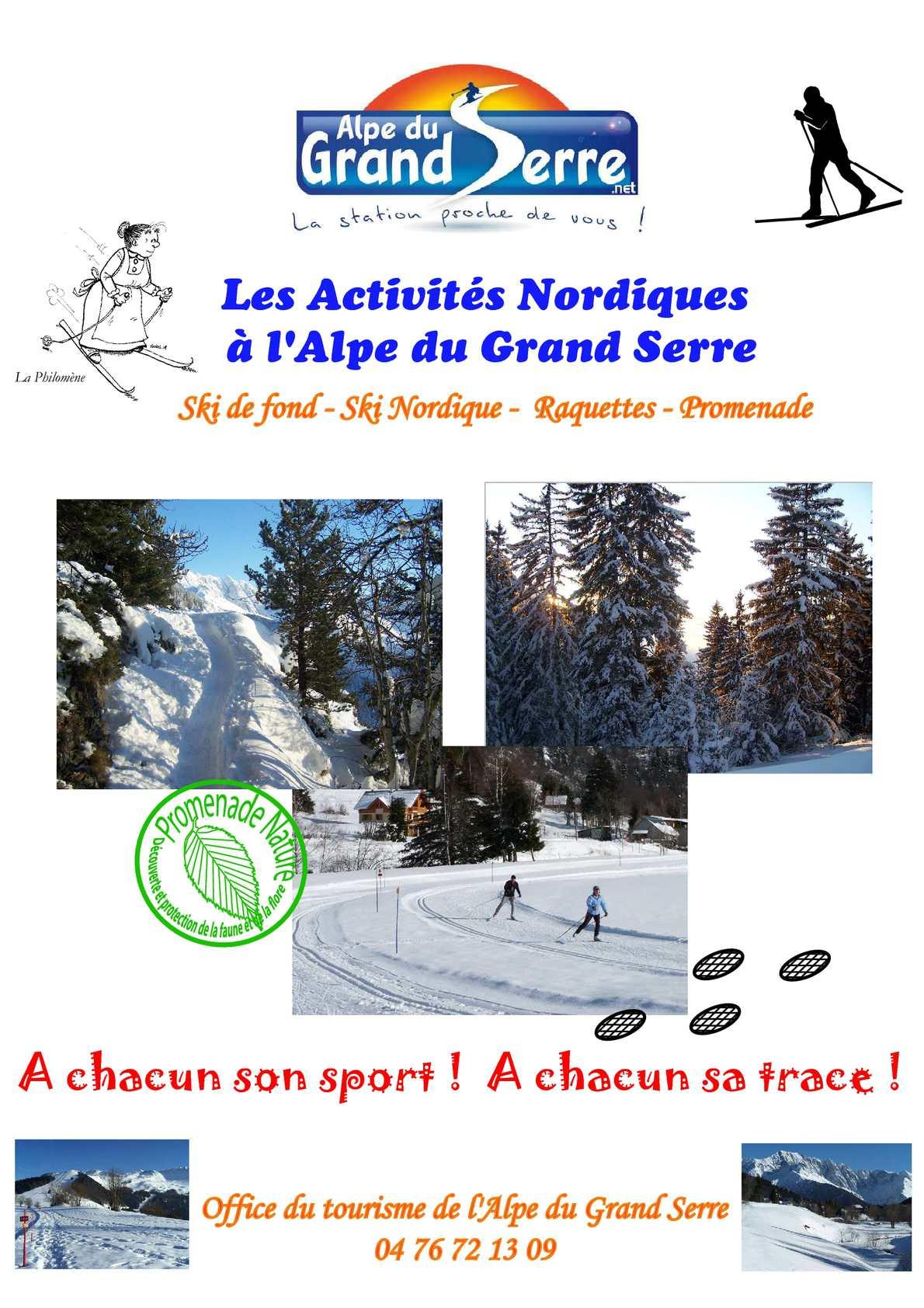 Calam o livret des activit s nordiques de l 39 alpe du - Office du tourisme alpes du grand serre ...