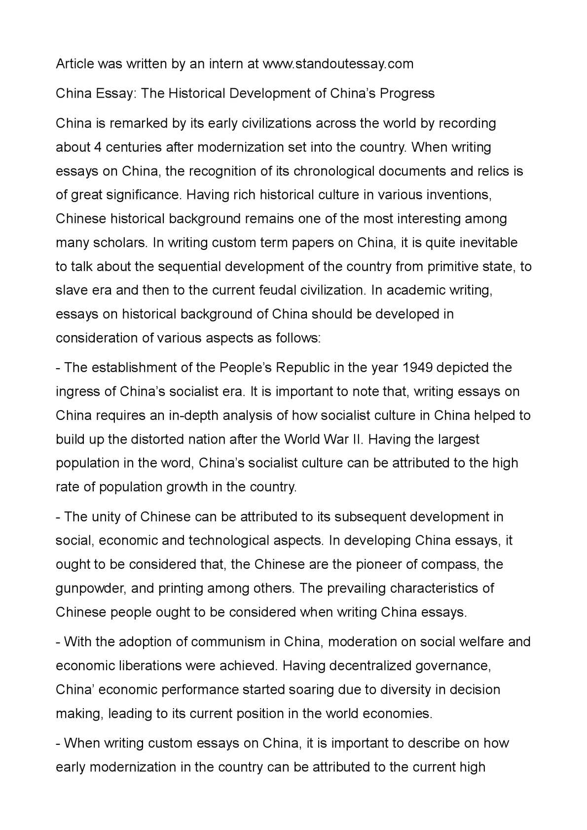 Extended Essay Topics English  English Essay Example also Last Year Of High School Essay Calamo  China Essay The Historical Development Of Chinas Progress What Is A Thesis Of An Essay