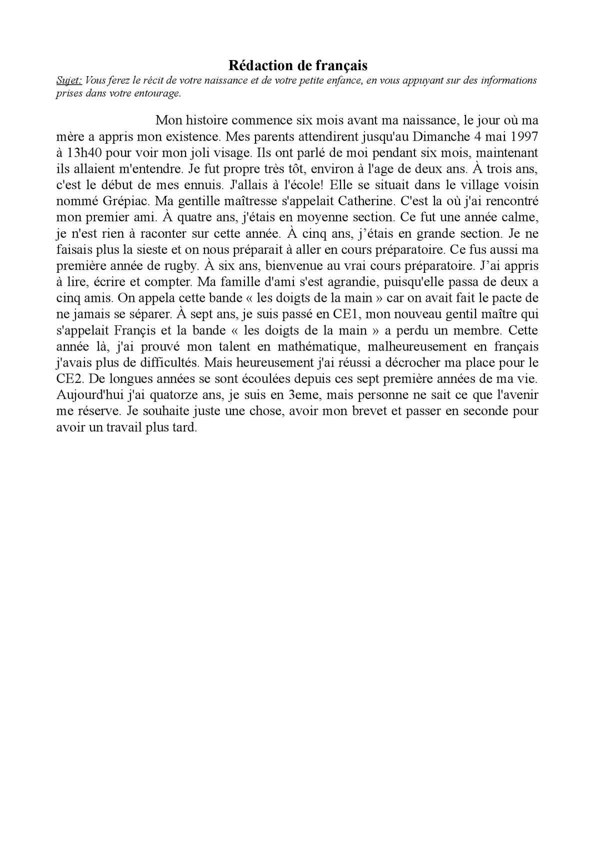 Brevet 2014 : Sujets et corrigés de l'épreuve de français