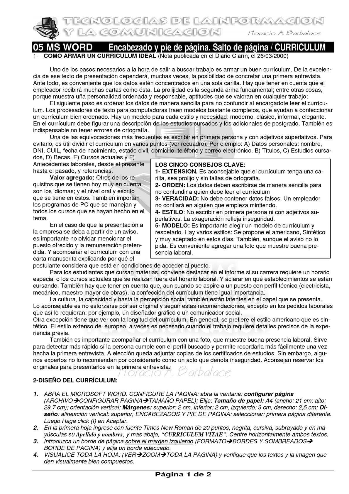 Calaméo - WORD 05 - Curriculum