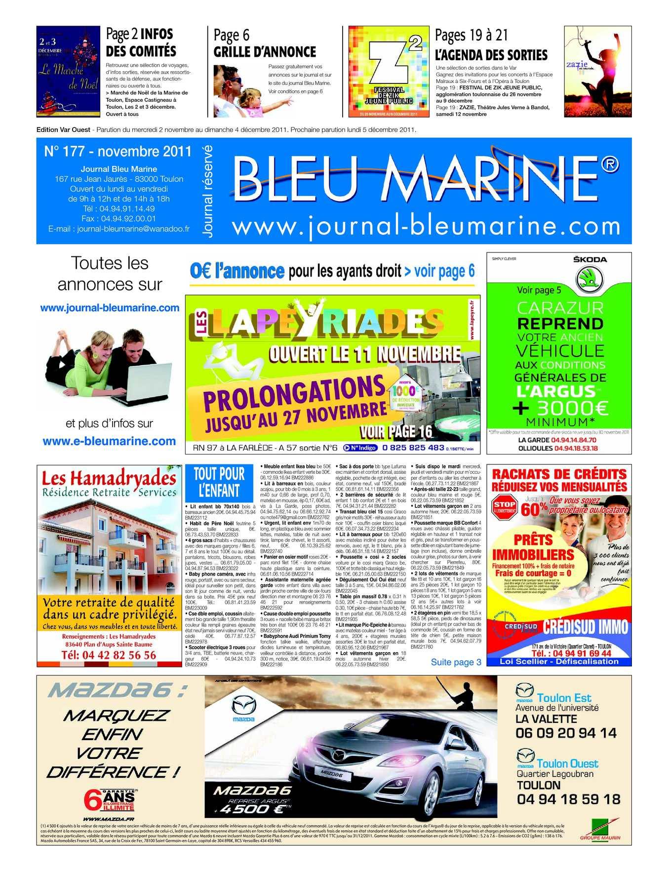 Calaméo Journal 2011 Bleu Marine 177 Novembre Jcl3uTKF1