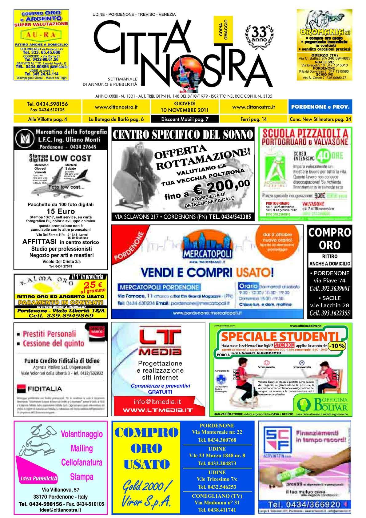 Calaméo Citt Nostra Pordenone Del 10 11 2011 N 1301