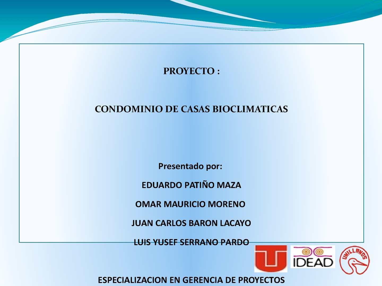 calaméo presentacion proyecto condominio de casas bioclimaticas