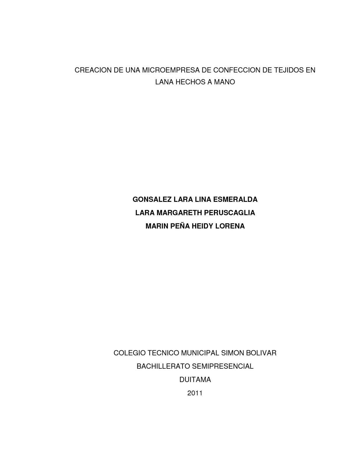 Calaméo - CREACION DE UNA MICROEMPRESA DE CONFECCION DE TEJIDOS EN ...