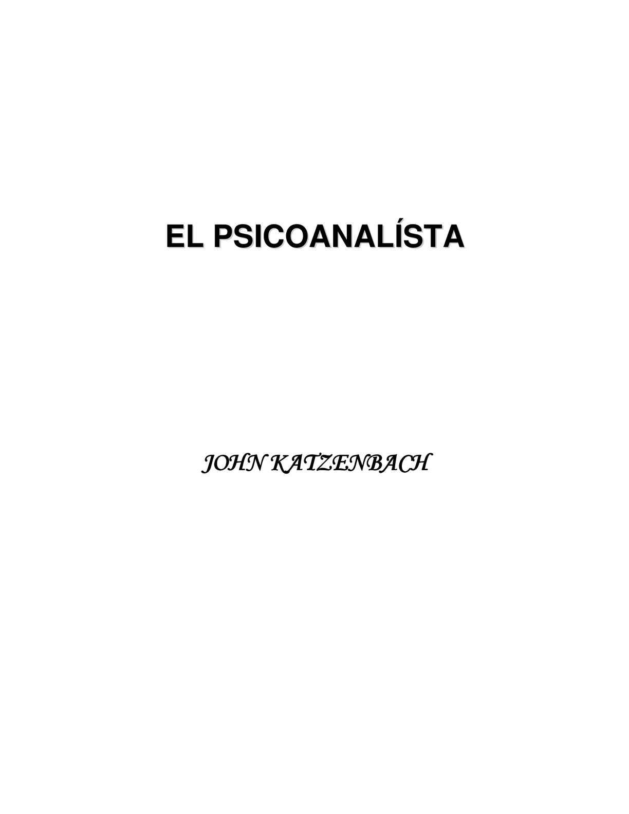 Calaméo - Psicoanalista de John Katsenbach