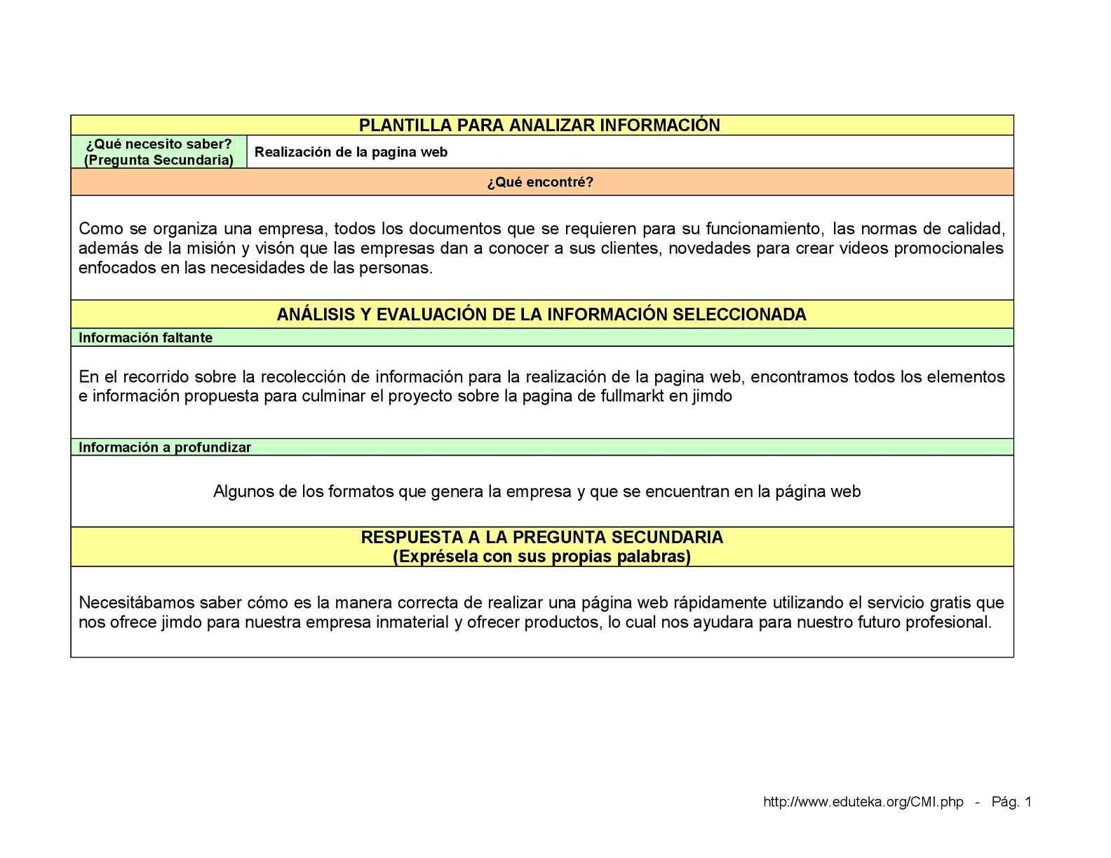 Calaméo - plantilla analisis de información
