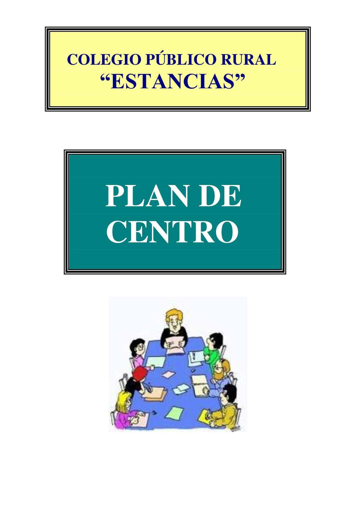 Calaméo - Plan de Centro del CPR Estancias