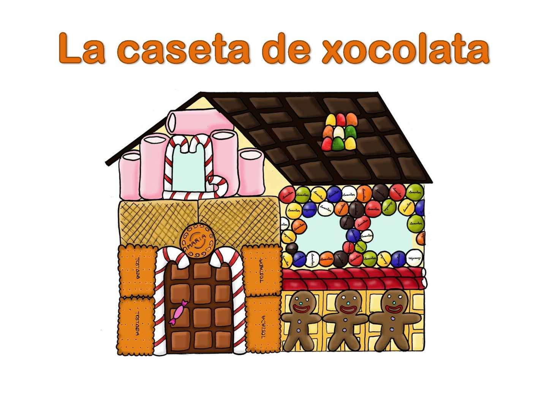 La caseta de xocolata amb pictogrames. Yolanda Cruel