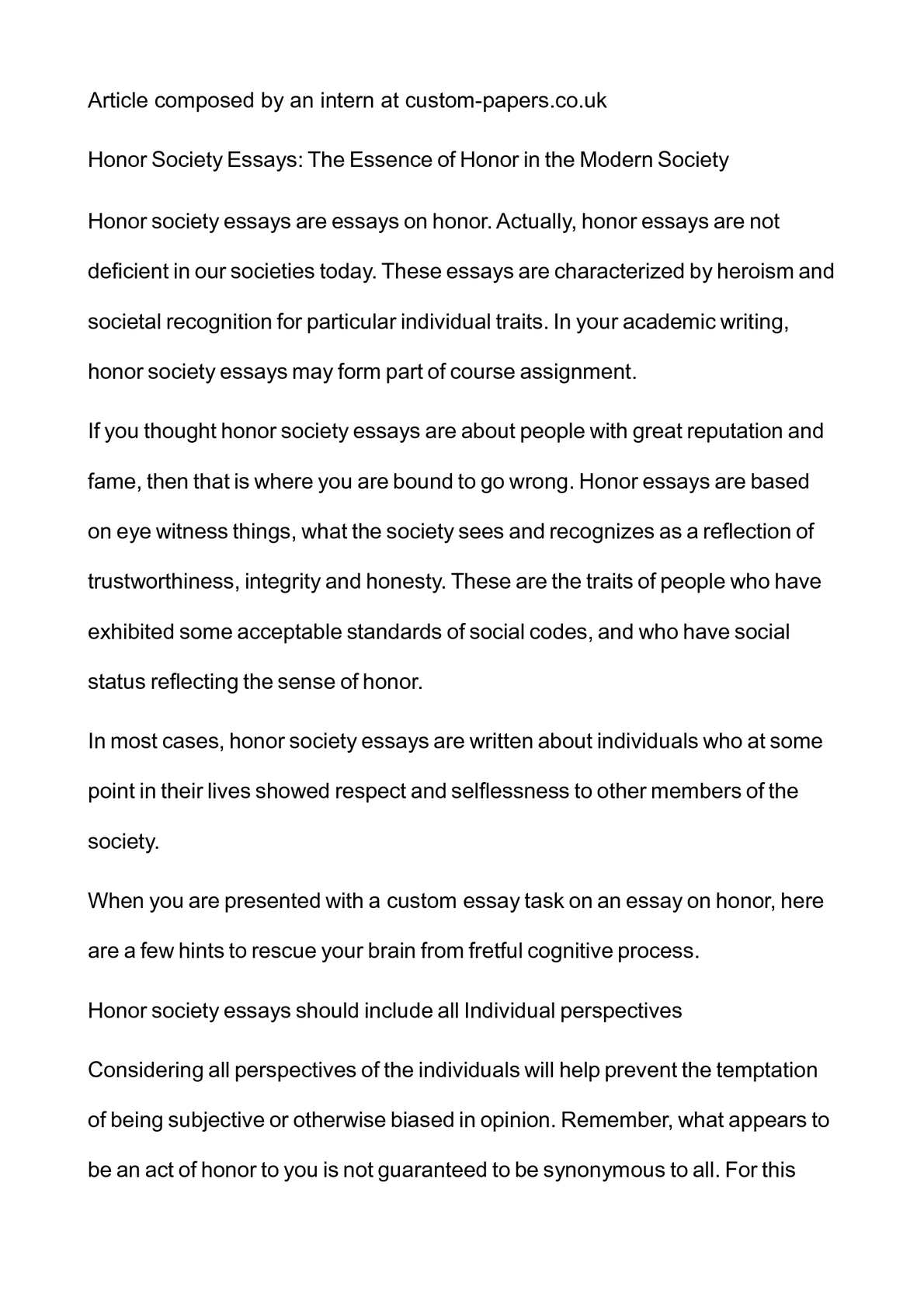 Good Essay Topics For High School Calamo  Honor Society Essays The Essence Of Honor In The Modern Society George Washington Essay Paper also Essay Thesis Statement Example Calamo  Honor Society Essays The Essence Of Honor In The Modern  Health Care Reform Essay