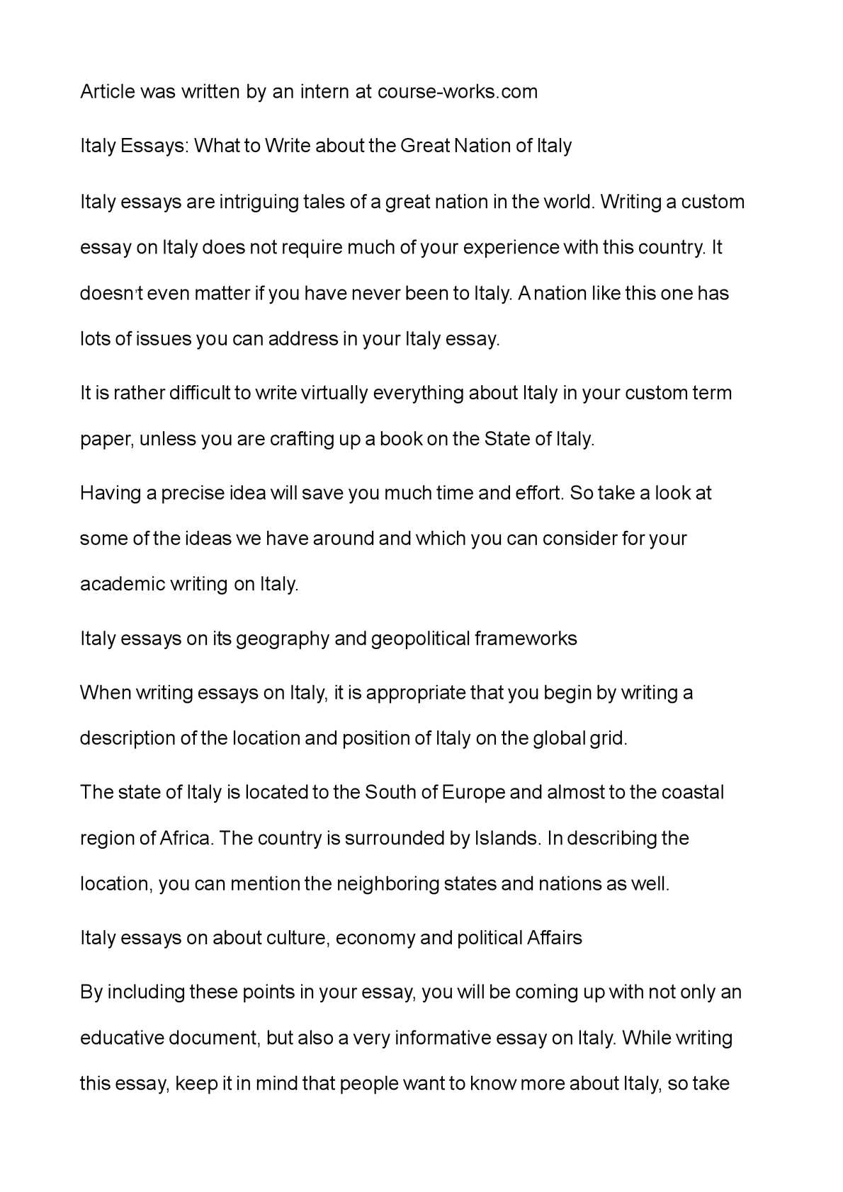 Charles Lamb Essays  Synthesis Essay Ideas also Example Of Illustrative Essay Calamo  Italy Essays What To Write About The Great Nation Of Italy College Essay Lesson Plans