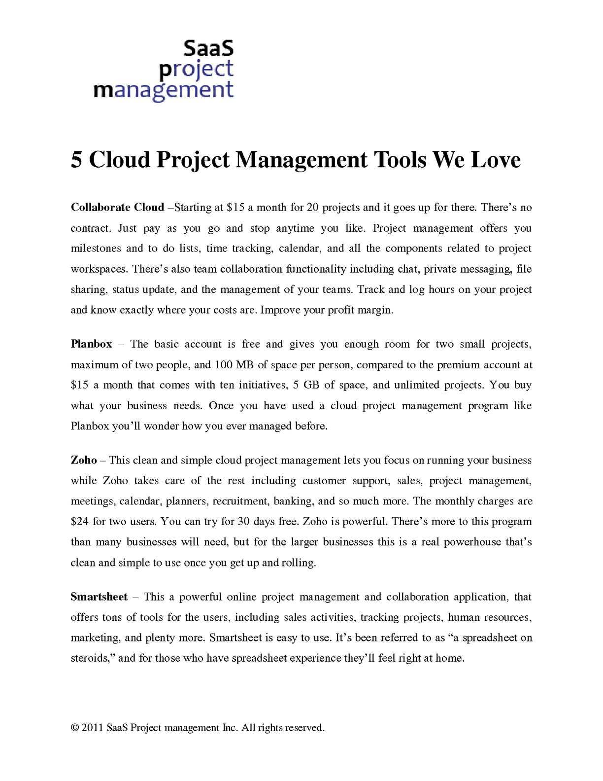 Calamo 5 Cloud Project Management Tools We Love