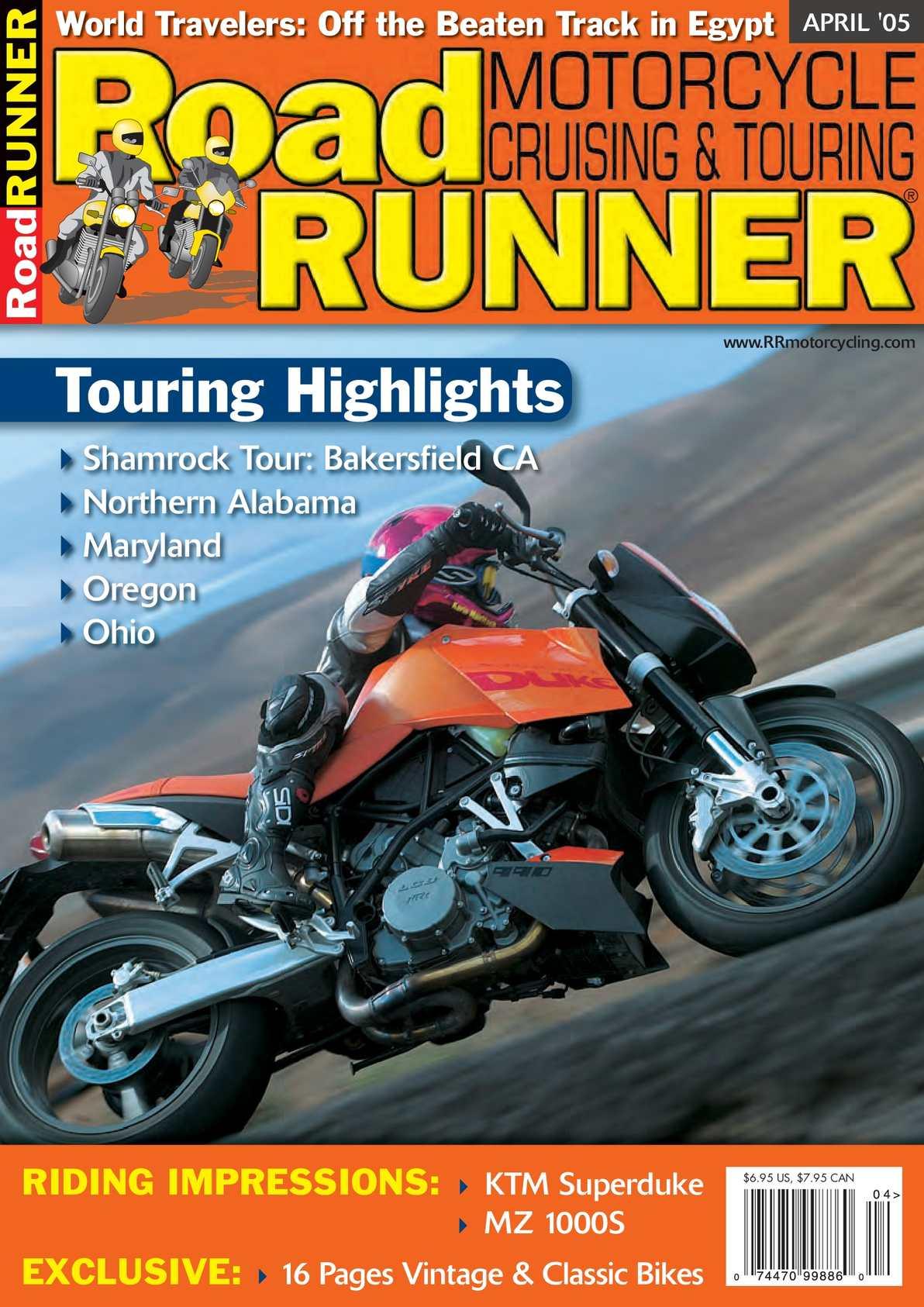 Calamo Roadrunner Magazine March April 2005 Royal Enfield Bullet 350 500cc Usa Spec Colour Wiring Diagram