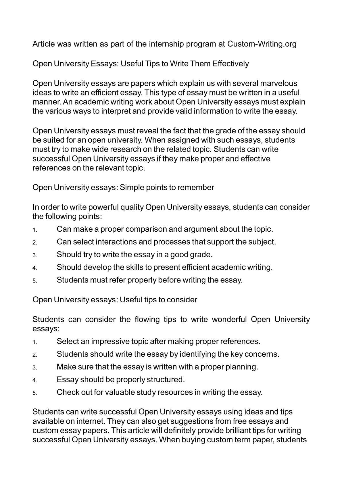 Healthy Living Essay  Essay Of Newspaper also University English Essay Calamo  Open University Essays Useful Tips To Write Them Effectively Reflective Essay On English Class