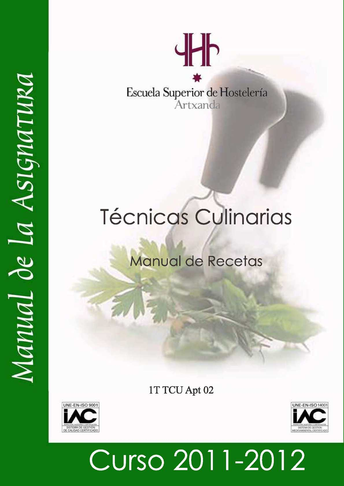 RECETAS DE LA ESCUELA DE HOSTELERIA