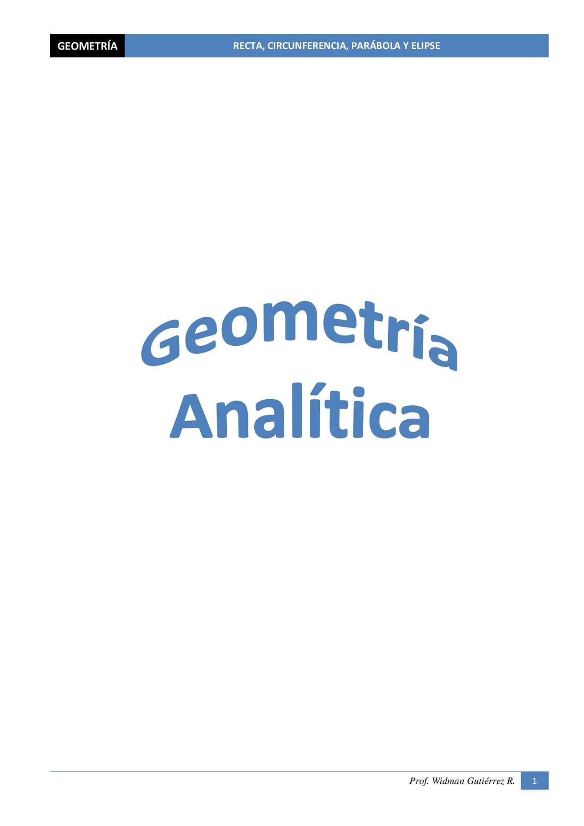 Problemas de Geometría Analítica
