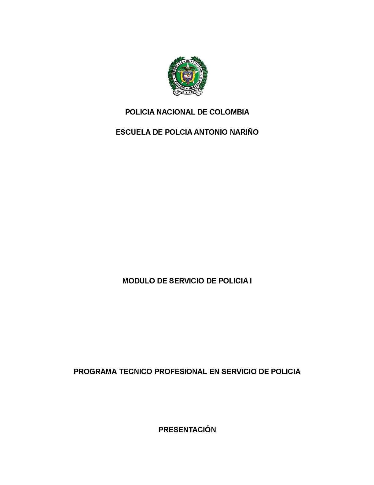 Calam O Modulo Servicio De Policia 1