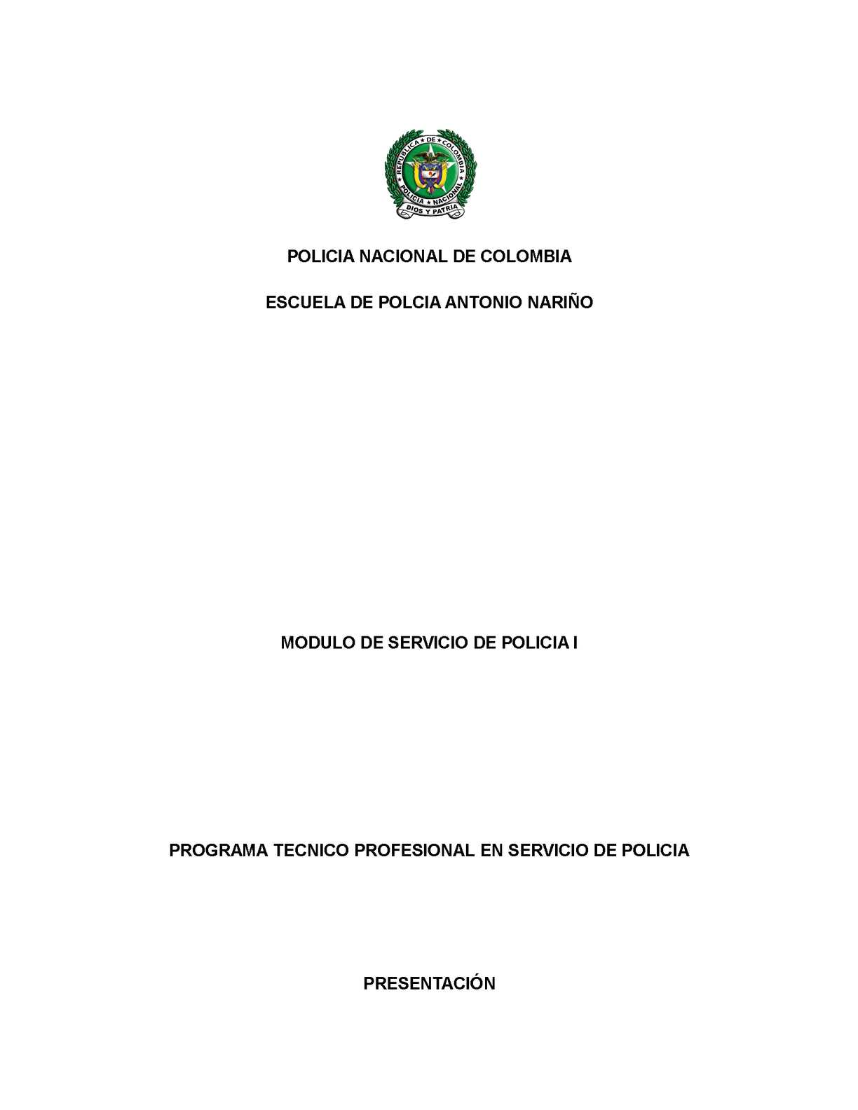 MODULO SERVICIO DE POLICIA 1