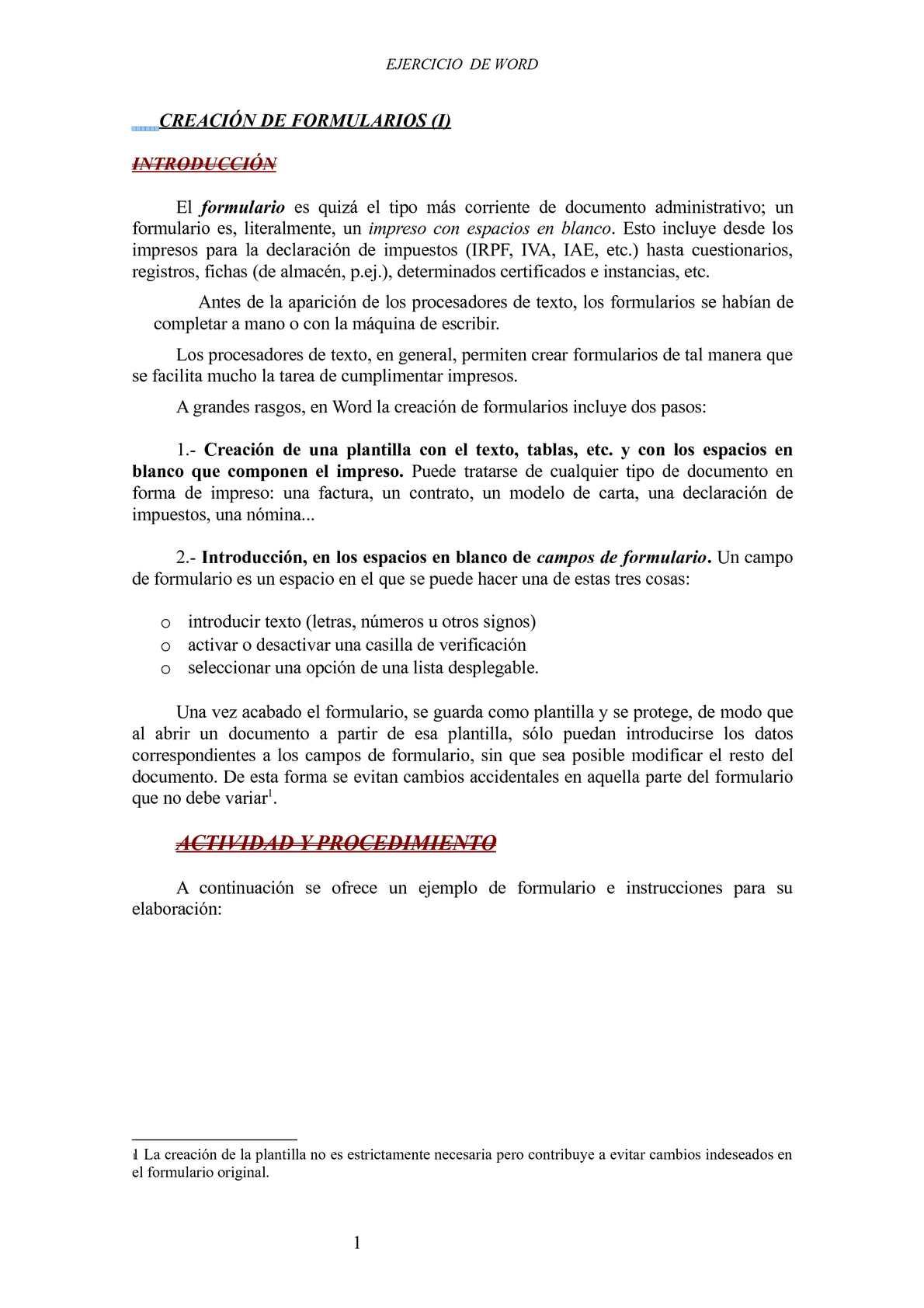 Calaméo - Formularios en word