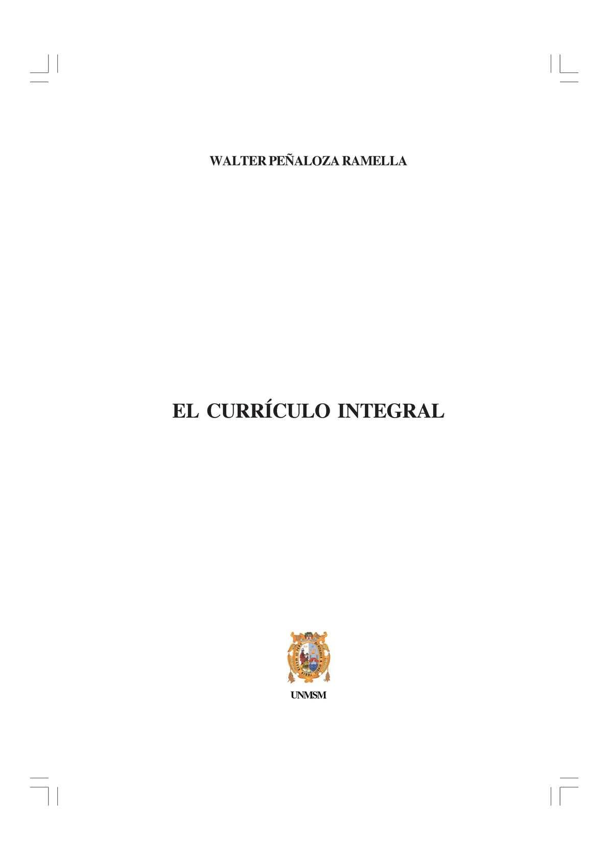 Calaméo - Walter Peñaloza Currículo Integral