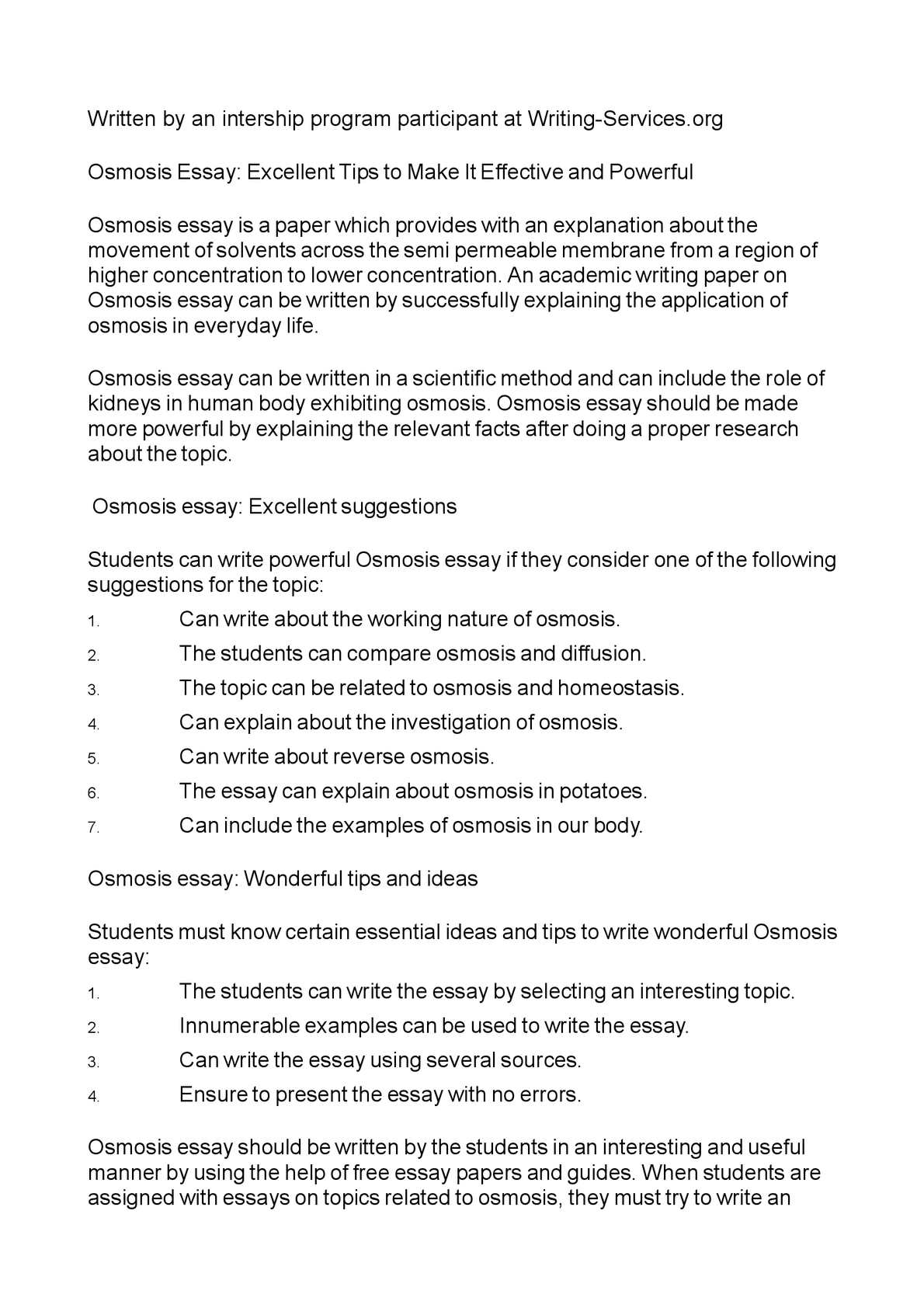 calamo  osmosis essay excellent tips to make it effective and  osmosis essay excellent tips to make it effective and powerful