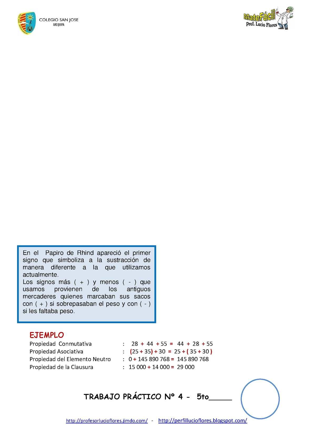 Libro Digital de Matemática 5to de primaria - Lucio Flores - CALAMEO ...