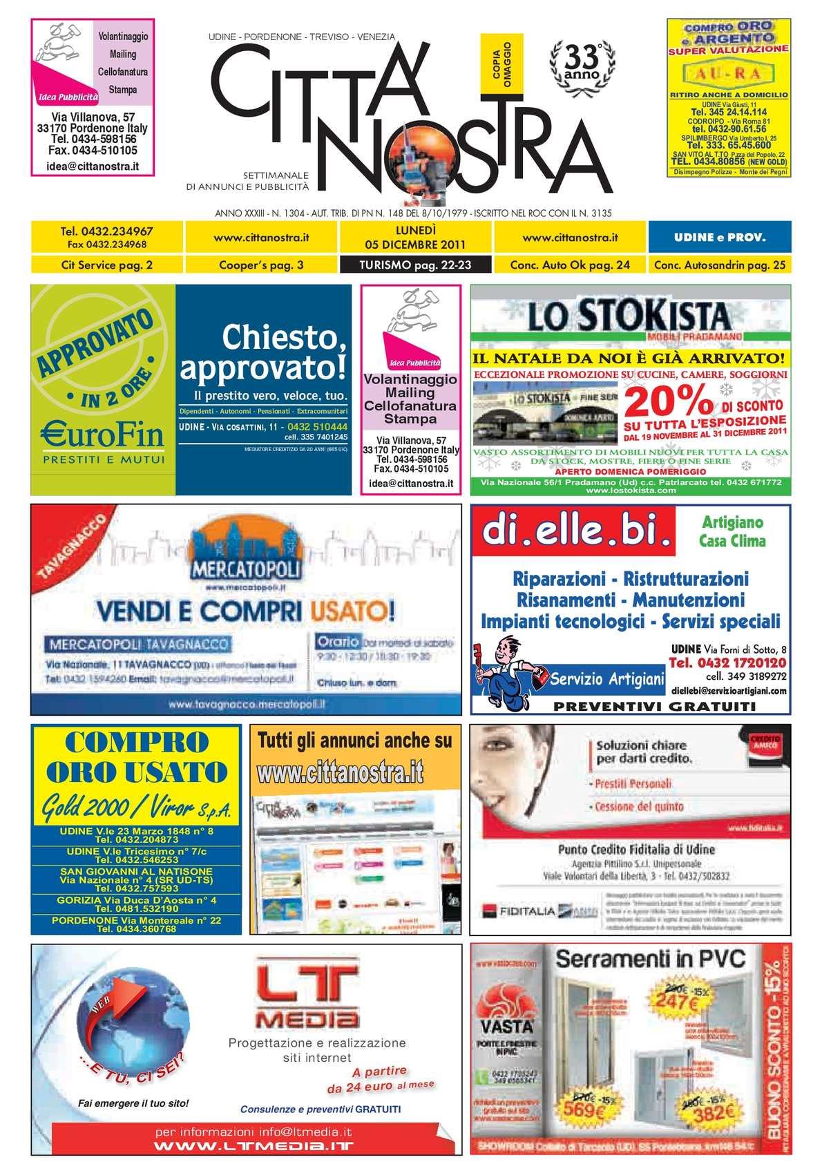 Calaméo Citt Nostra Udine Del 05 12 2011 N 1305