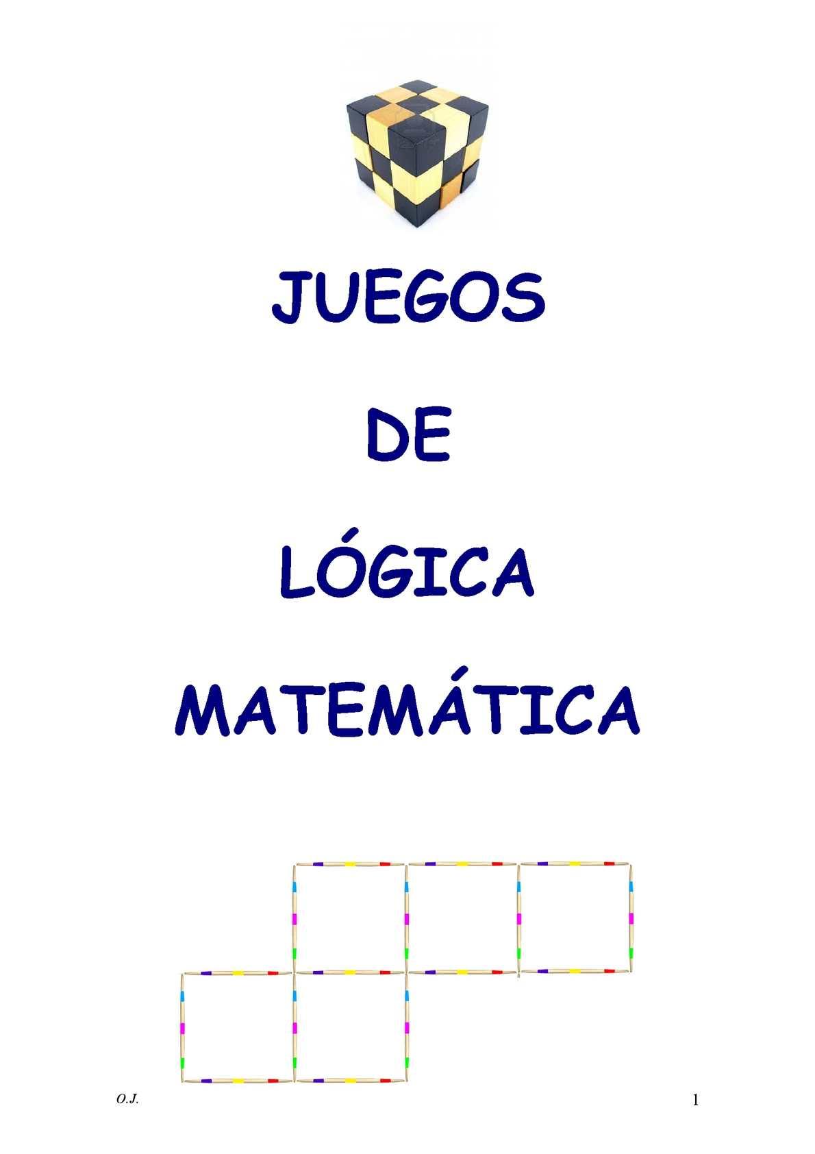 JUEGOS DE LÓGICA MATEMÁTICA