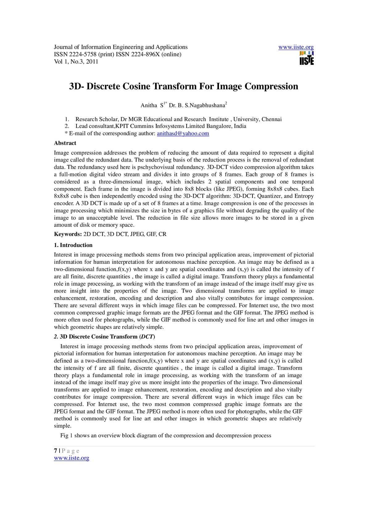 Calamo 3ddiscrete Cosine Transform For Image Compression Block Diagram Jpeg
