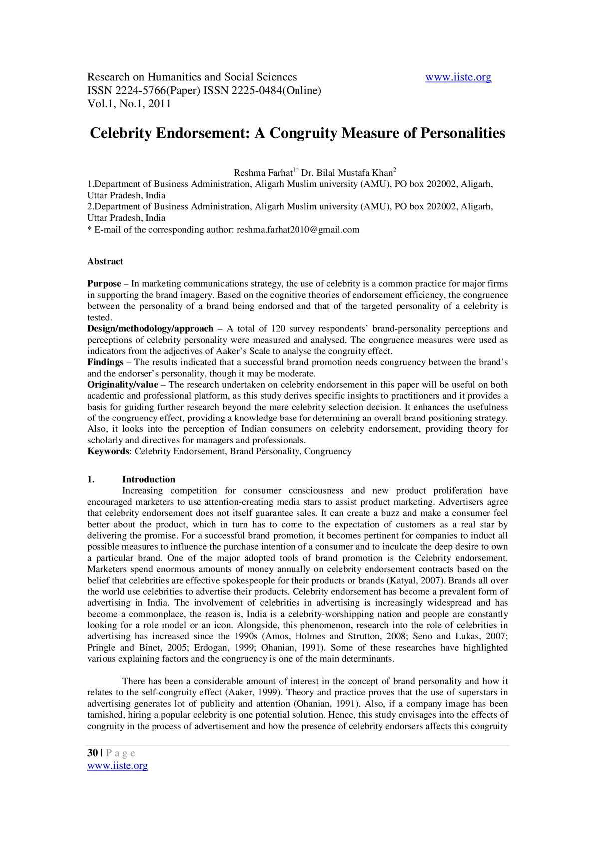 research paper on celebrity endorsement View and download endorsement essays examples essay paper #: 97516602 celebrity endorsement strategy: in this research paper.