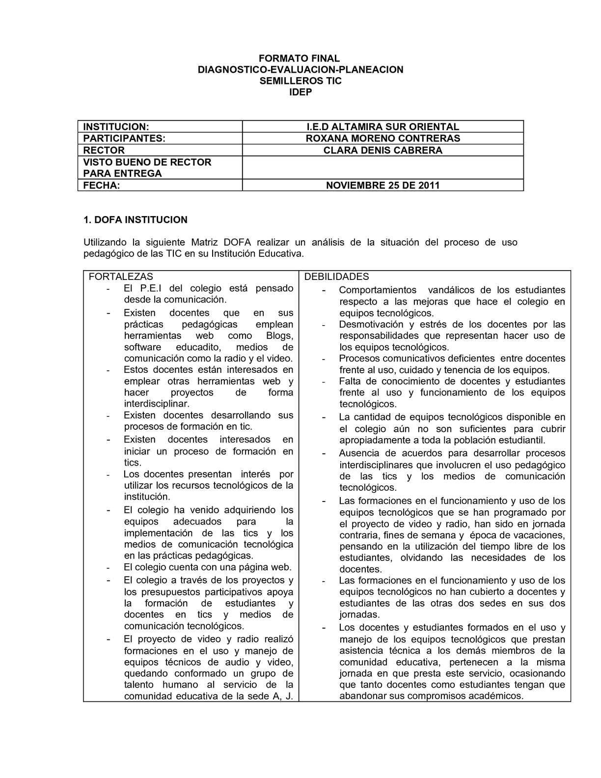 FORMATO DE DIAGNOSTICO-PLANEACION