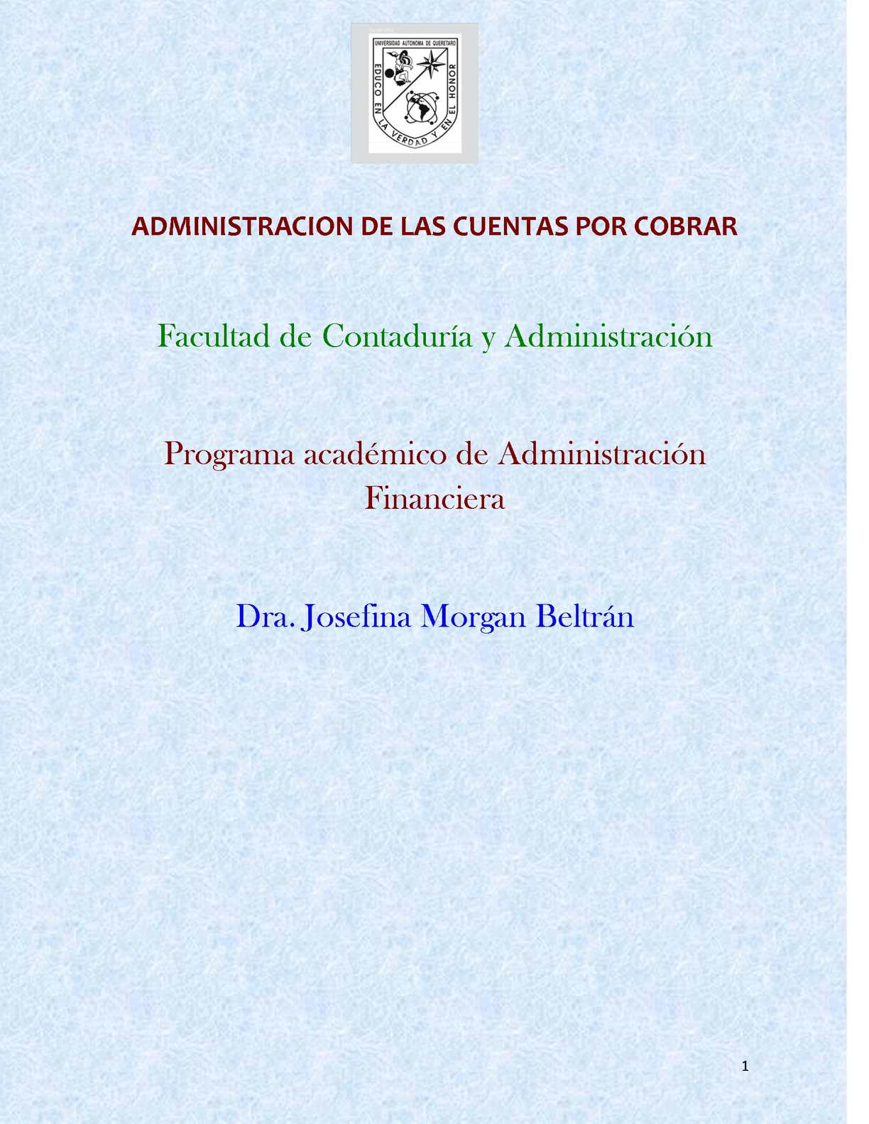 Calaméo - ADMINISTRACION DE LAS CUENTAS POR COBRAR