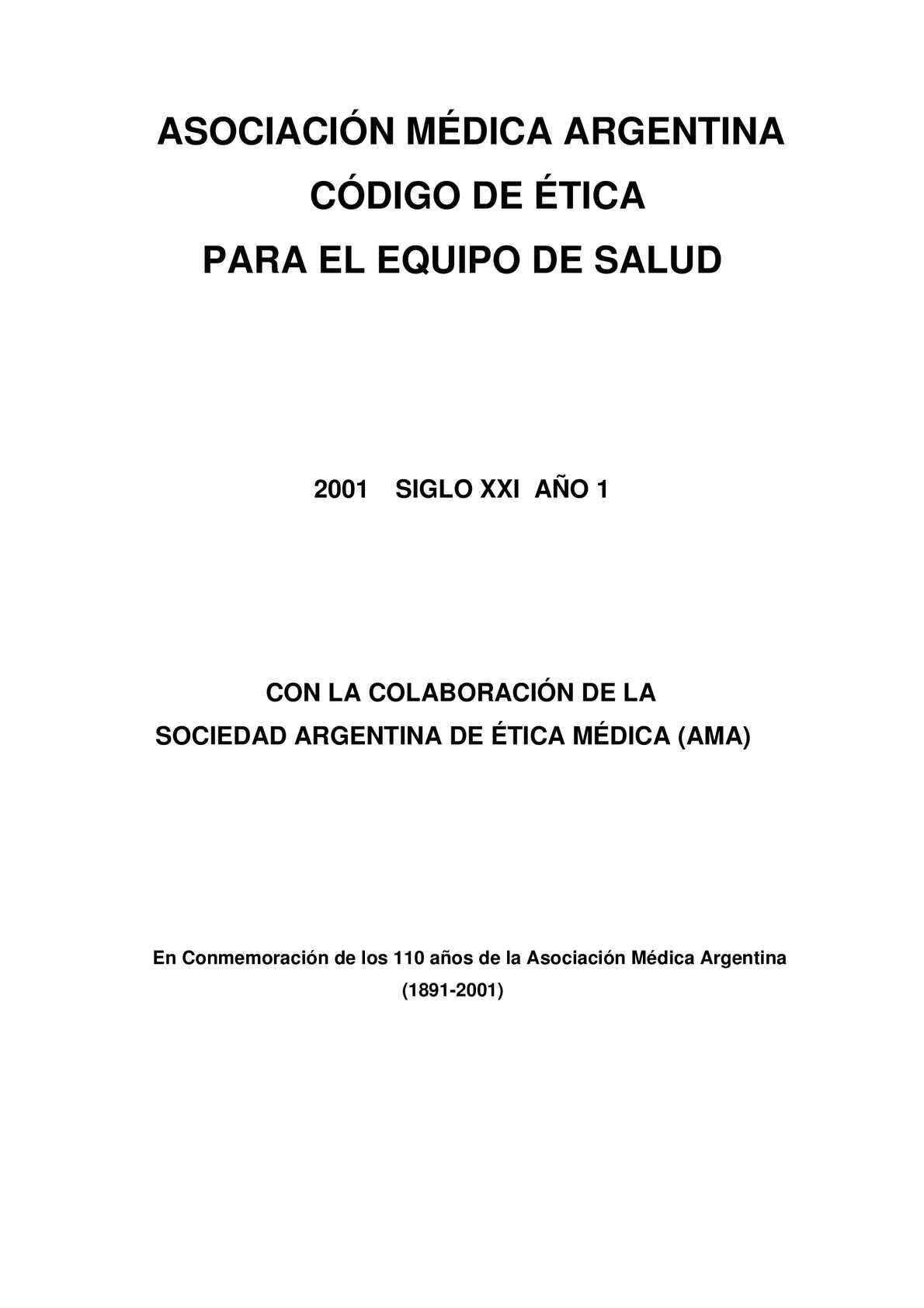 Calaméo - Código de Ética para el Equipo de Salud en Español.