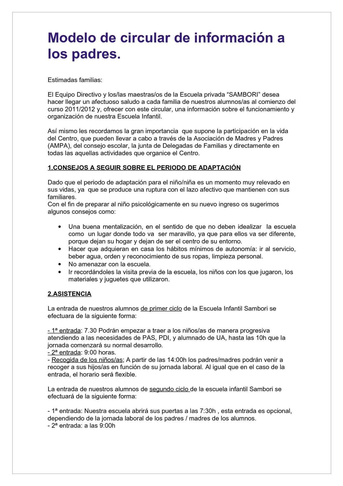 Calaméo - Modelo circular de Información de Educación Infantil