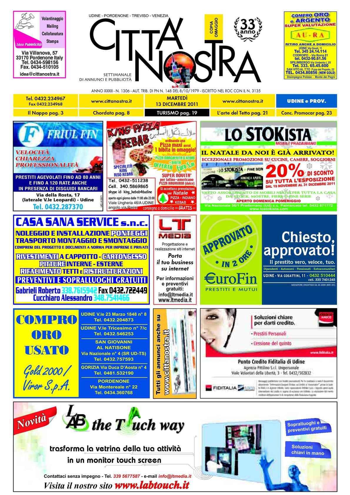Calaméo Citt Nostra Udine Del 13 12 2011 N 1306