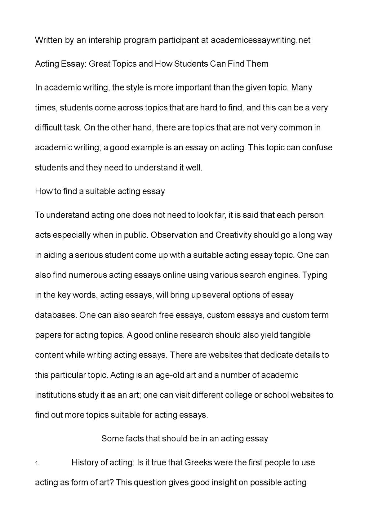 Essay On Healthy Eating  Essay On Global Warming In English also High School Essay Sample Calamo  Acting Essay Great Topics And How Students Can Find Them Essay Thesis Statement Example