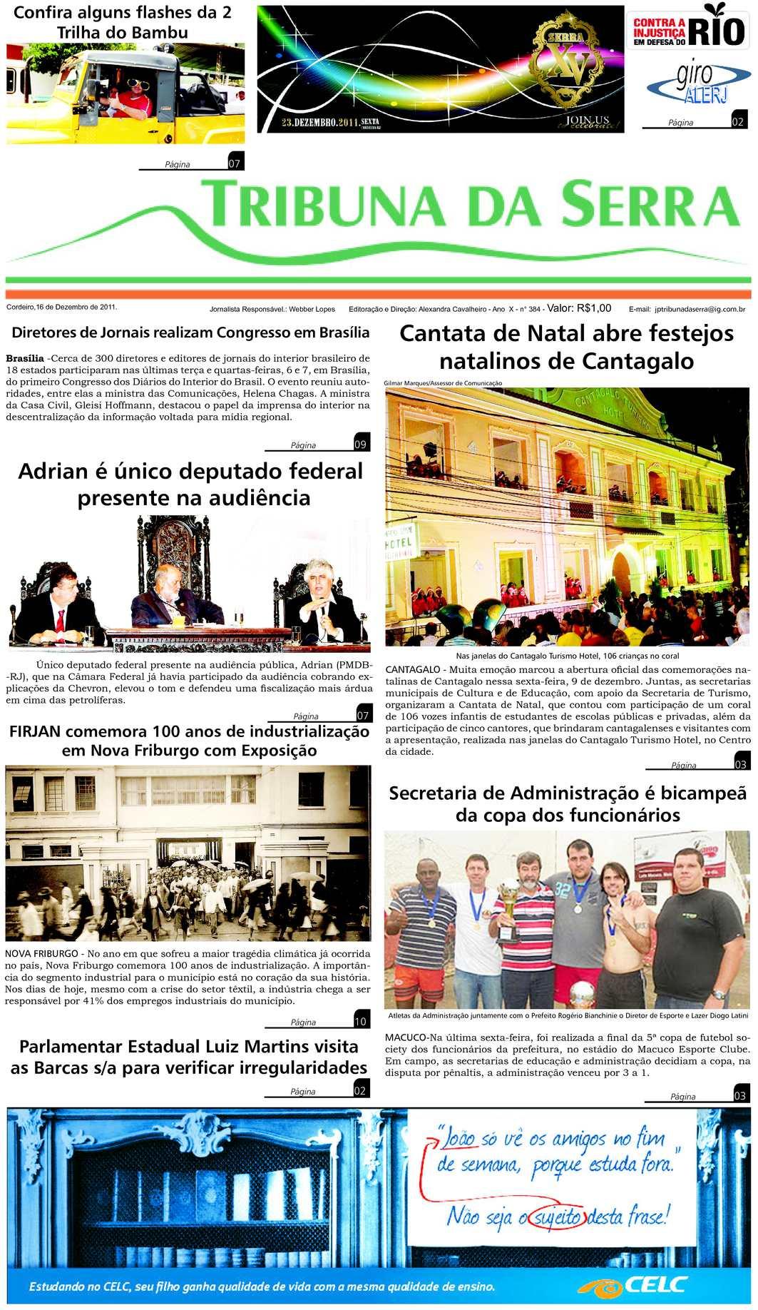 Calaméo - Jornal Tribuna da Serra - Edição nº384 - Cordeiro-RJ bcdae82676