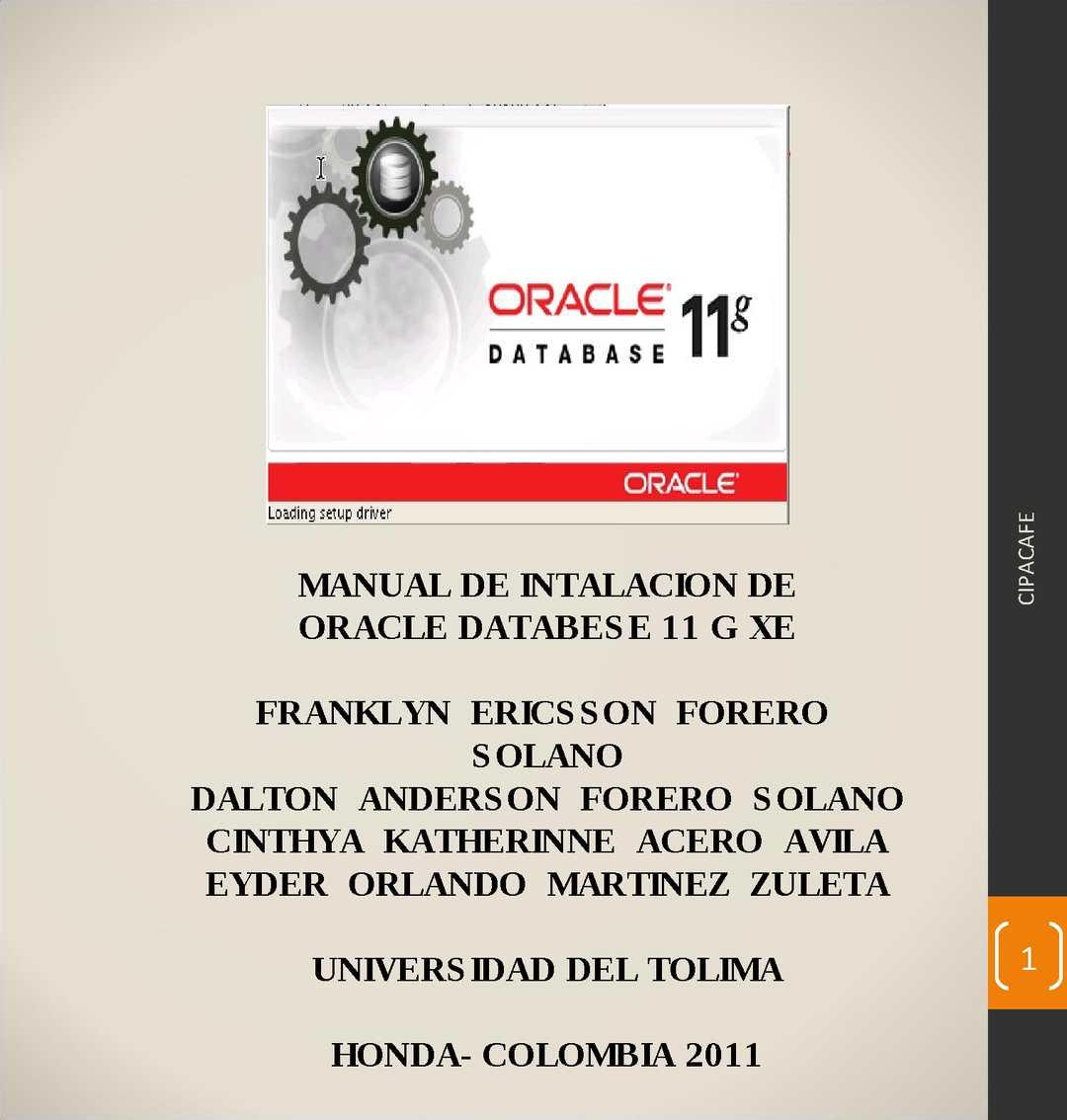 Manual de Instalación de Oracle Database 11 g XE